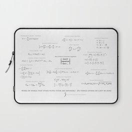 High-Math-Inspiration 01 - Black & Gray Laptop Sleeve