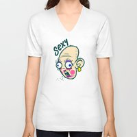 makeup V-neck T-shirts featuring Sexy Makeup by Artistic Dyslexia