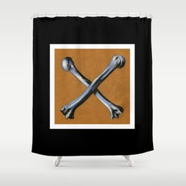 Bones , Traditional Tattoo Shower Curtain