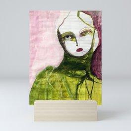 Portrait Lines Mini Art Print