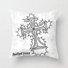 Hollycross Logo Throw Pillow
