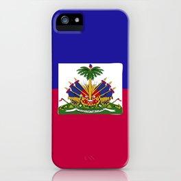 Haiti flag emblem iPhone Case