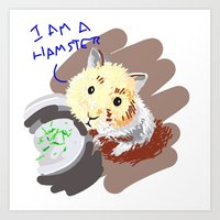 hamster Art Prints featuring Hamster by wingnang