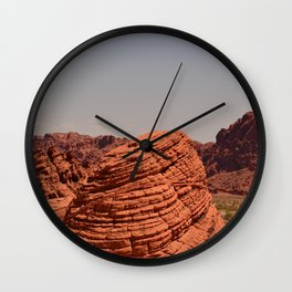 Red Valley Wall Clock