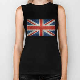 "UK British Union Jack flag ""Bright"" retro Biker Tank"
