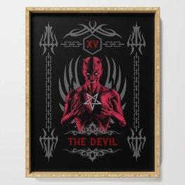 The Devil XV Tarot Card Serving Tray