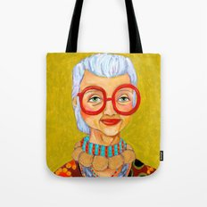 IRIS Apfel New York Fashion Icon Tote Bag