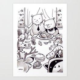 FANCY FEAST WITH FRIENDS Art Print