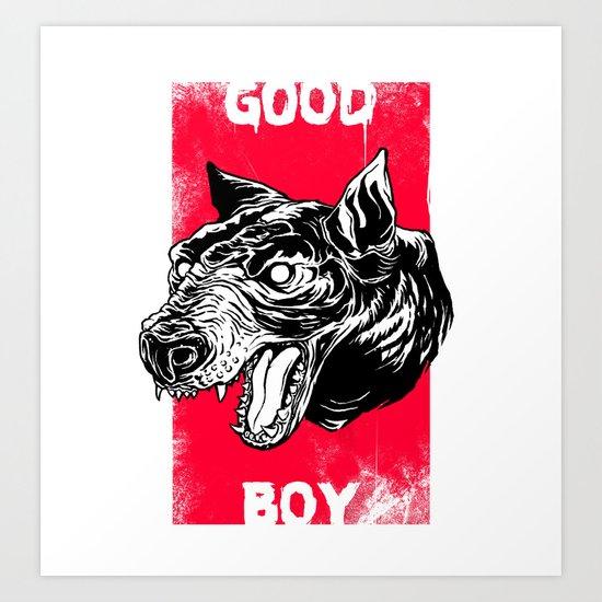GOOD BOY Art Print