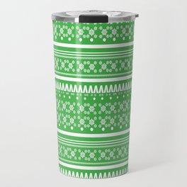 Christmas Jumper Green Travel Mug