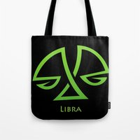 libra Tote Bags featuring Libra by Groovyal