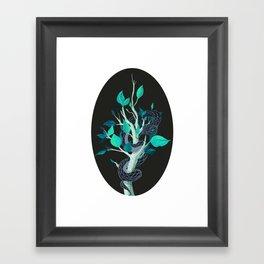Snake - Blue Framed Art Print