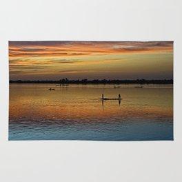 River Niger sunset - Segou, Mali, Africa Rug