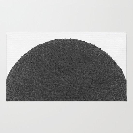 Black sphere Rug