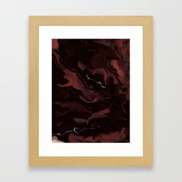 Abstract Astronomy in Crimson Red Framed Art Print