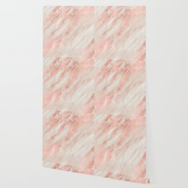 Desert Rose Gold Pink Marble Wallpaper