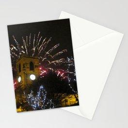 Fireworks and Sunderland Minster Clock Tower Stationery Cards