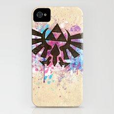 Splash Triforce Emblem Slim Case iPhone (4, 4s)