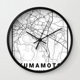 Kumamoto Light City Map Wall Clock