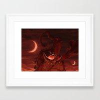 mythology Framed Art Prints featuring Mythology e01p02 by Biram Ba