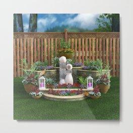 Tranquil Garden Metal Print