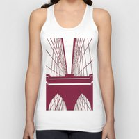 brooklyn bridge Tank Tops featuring Brooklyn Bridge by Melinda Zoephel
