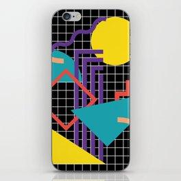 Memphis Pattern - 80s Retro Black iPhone Skin