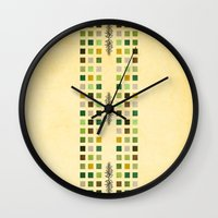 flora Wall Clocks featuring Flora by Diogo Verissimo