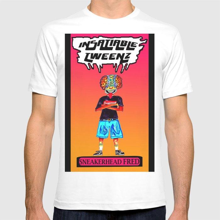 9c2bdf18f8e02 Insatiable Tweenz: Sneakerhead Fred T-shirt by rainarainbowart ...