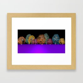 colors and trees Framed Art Print