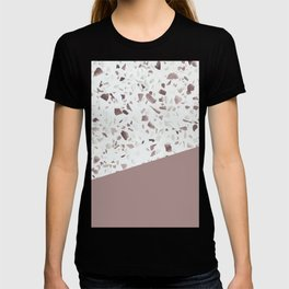 Terrazzo Texture Antique Pink #6 T-shirt