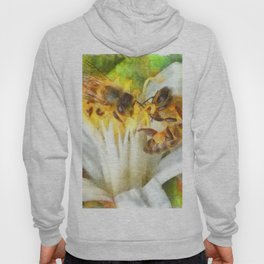 Bees and Flowering Plants Watercolor Hoody