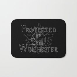 Protected by Sam Winchester Bath Mat