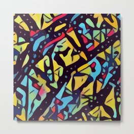 Vibrant Kaleidoscopic Thicket Metal Print