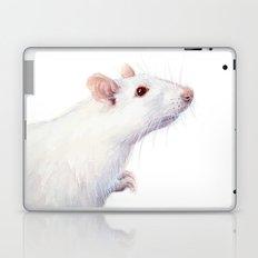 White Rat Watercolor Albino Rat Animal Laptop & iPad Skin
