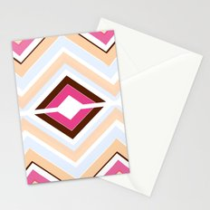 Mod stripes in raspberry Stationery Cards