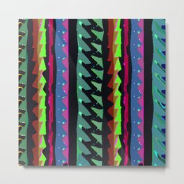 TROPICAL THUNDER 1980'S iNSPIRED MULTICOLOR PRINT Metal Print
