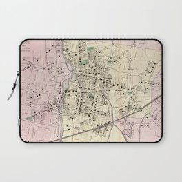 Vintage Map of Stamford CT (1867) Laptop Sleeve