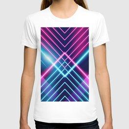 Neon 80s Laser lights  T-shirt