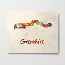 Gambia  in watercolor Metal Print