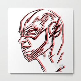 Flash Sketch Metal Print