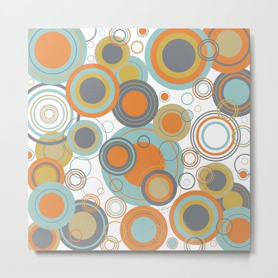 Retro Mid Century Modern Circles Geometric Bubbles Pattern by 19monkeys