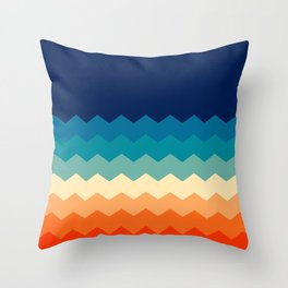 80s flat palette Throw Pillow