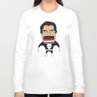 punisher Long Sleeve T-shirts featuring Screaming Punisher by That Design Bastard