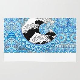 Kanagawa's wave Rug