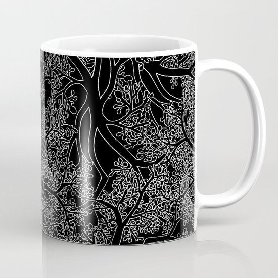 Tree Repeat Black Mug