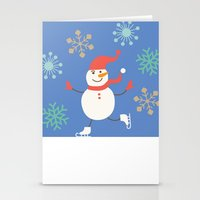 snowman Stationery Cards featuring Snowman by Mr and Mrs Quirynen