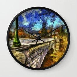 The Headless Horseman Bridge Van gogh Wall Clock