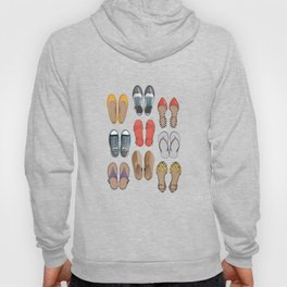 Hard choice // shoes on yellow background Hoody
