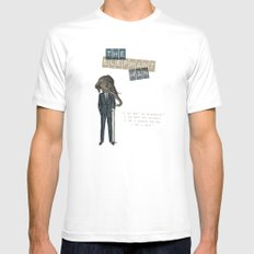 The elephant man MEDIUM White Mens Fitted Tee